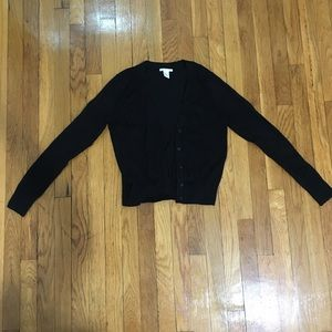 Black button up cardigan size XS